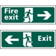 Fire Exit & Exit signs