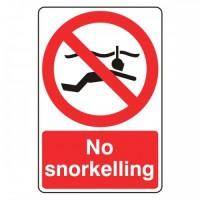 No snorkelling