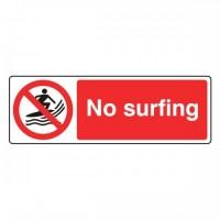 No surfing