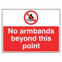 No armbands beyond this point