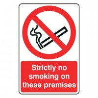 Strictly no smoking on these premises