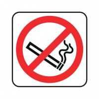 No Smoking Logo Sign (Reversed)