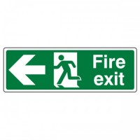 Fire exit Arrow left
