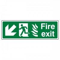 Fire exit Arrow down left