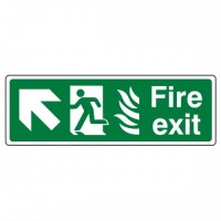 Fire exit Arrow up left