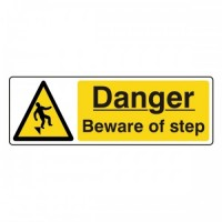 Danger beware of step