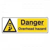Danger Overhead hazard
