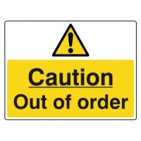 Caution Out of order