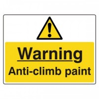 Warning anti-climb paint