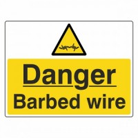 Danger Barbed Wire