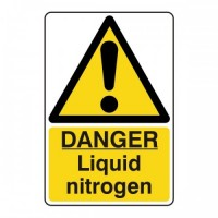 Danger liquid nitrogen