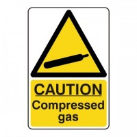 Caution compressed gas