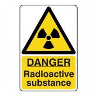 Danger Radioactive substance