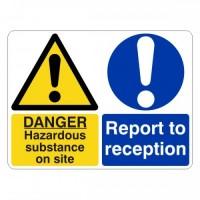 Danger hazardous substance on-site