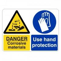 Danger Corrosive Materials
