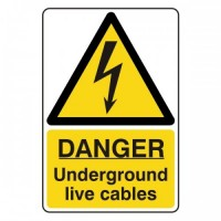Danger underground live cables