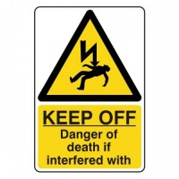 KEEP OFF danger of death if interfered with