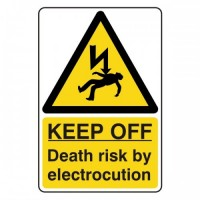 KEEP OFF Death risk by electrocution