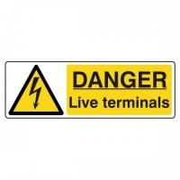 Danger live terminals