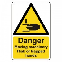 Danger Moving machinery Risk of trapped hands