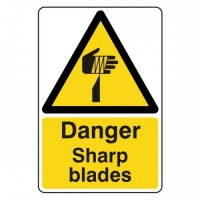 Danger Sharp blades