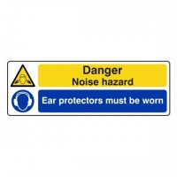 Danger Noise hazard Ear protectors must be worn