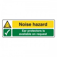 Noise Hazard Ear protectors is available on request