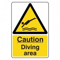 Caution diving area