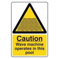 Caution wave machine operates in this pool