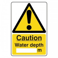 Caution water depth (writing space in metres)