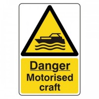 Danger Motorised craft
