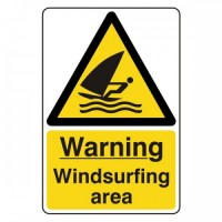 Warning Windsurfing area