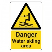 Danger Water skiing area