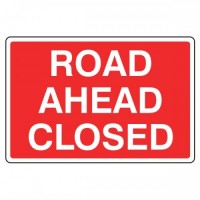 Road ahead closed