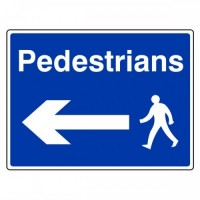 Pedestrians arrow left