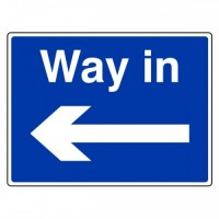 Way in (arrow left)