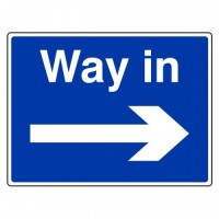 Way in (arrow right)