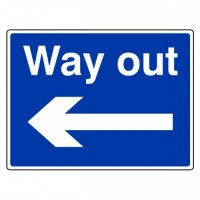 Way out (arrow left)