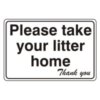 Please Take Your Litter Home