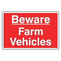 Beware farm vehicles