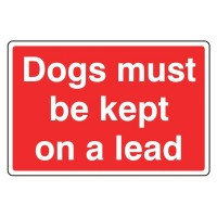 Dogs must be kept on the lead