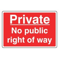 Private No public right of way