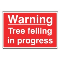 Warning Tree felling in progress