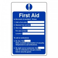 First Aid / illness