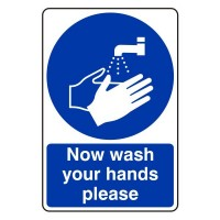Now wash your hands please