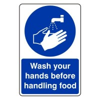 Wash your hands before handling food