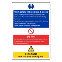 Work safely with cooker and ovens