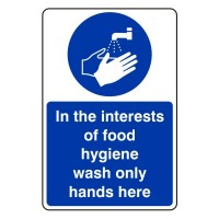 In the interest of food hygiene wash only hands here
