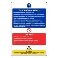 Use knives safely