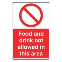 Food and drink not allowed in this area